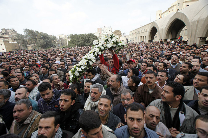 Funeral Held For Coptic Pope Shenouda In Cairo