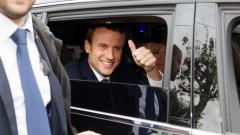 Presidential Candidate Emmanuel Macron Votes In Le Touquet