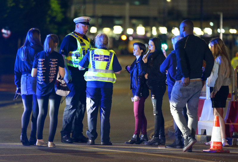 Police Respond To An Incident At Manchester Arena