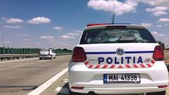 masina politie pe austrada_fb politia romana