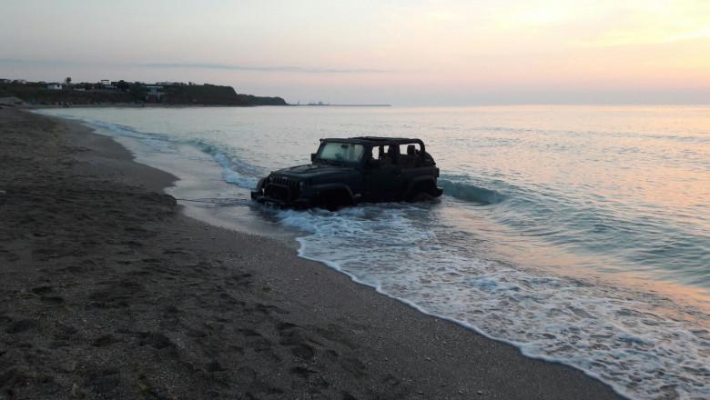 masina in mare
