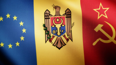 Grafica steag Republica Moldova, UE sau Rusia - icon