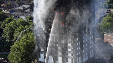 27-Storey Grenfell Tower Block On Fire In West London