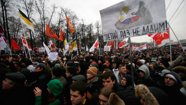Opposition Protesters Take To The Streets Of Moscow