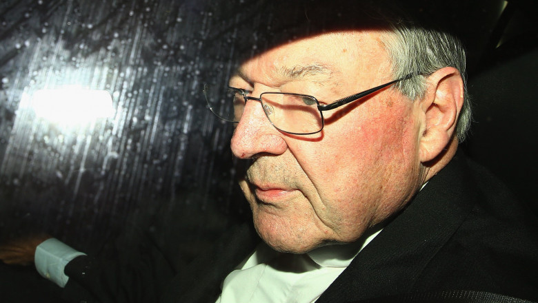 Cardinal George Pell Arrives For Royal Commission Appearance