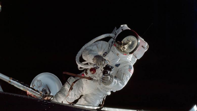 Apollo 9 Mission image - Astronaut Russell L. Schweickart, lunar module pilot, during EVA