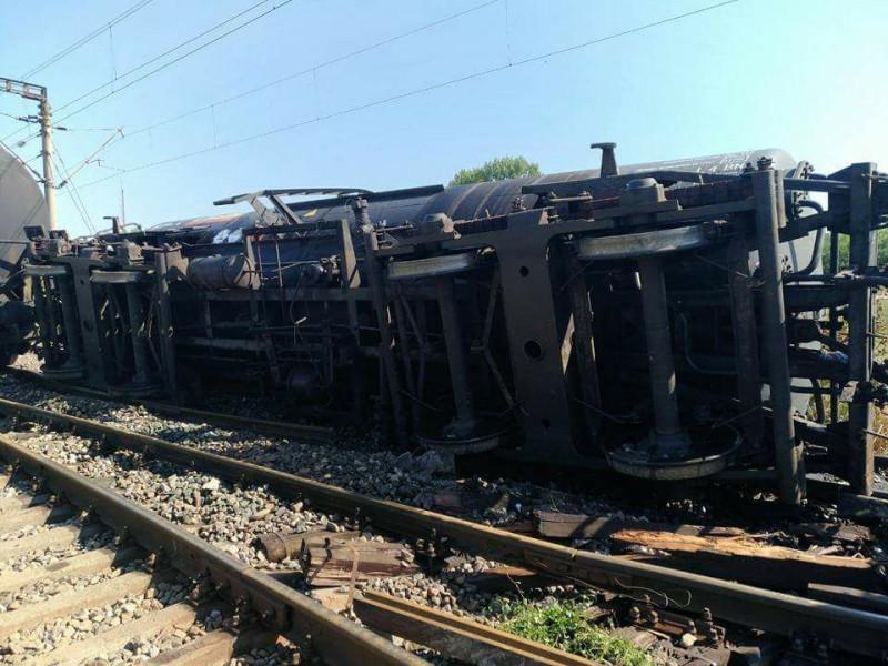 tren deraiat - - cfr infrastructura