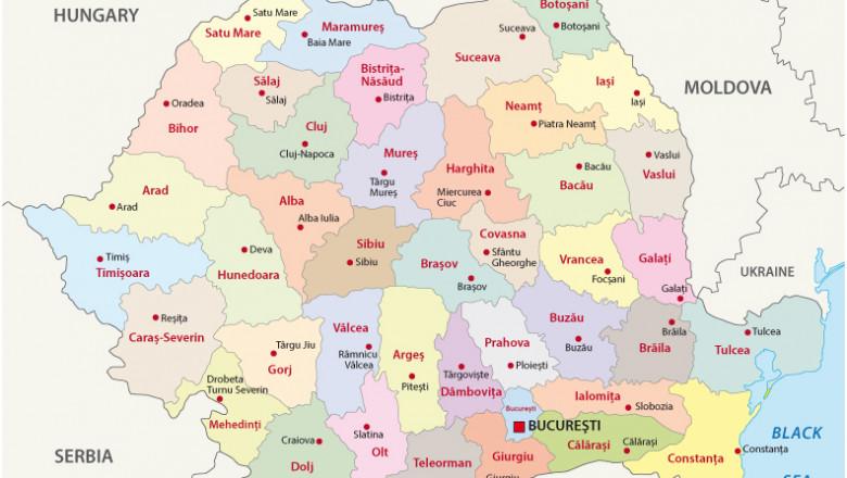 Romania harta judete