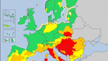 harta canicula europa