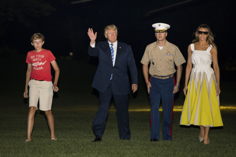 President Trump Arrives Back At The White House After Spending Time In New Jersey