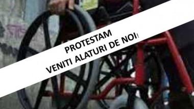protest persoane dizabilitati