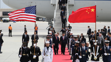 Chinese President Xi Jinping Arrives To West Palm Beach For Visit With President Trump
