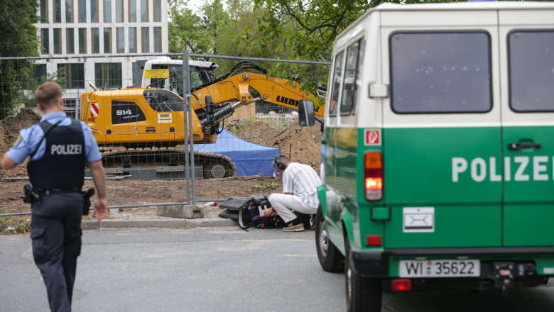 World War II bomb found during construction works in Frankfurt Main