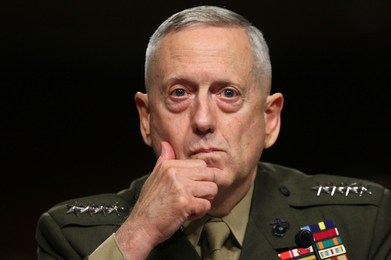 Gen. James Mattis Attends Confirmation Hearing To Head US Central Command