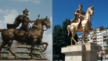 statuie mihai viteazu before and after