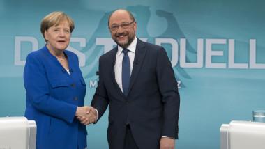 Merkel And Schulz Face Off In TV Debate