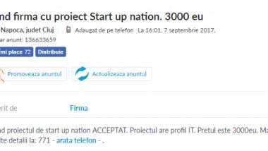 proiect start-up