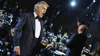 2017 Celebrity Fight Night Italy's Andrea Bocelli Show at the historic Rome Colesseum