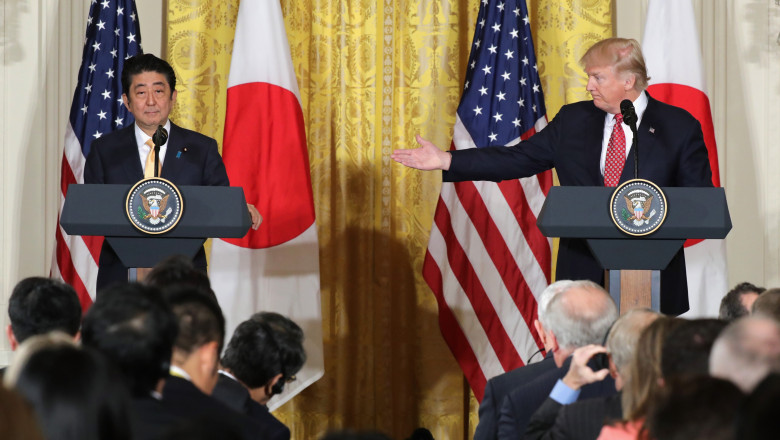President Trump Holds Joint Press Conference With Japanese PM Shinzo Abe