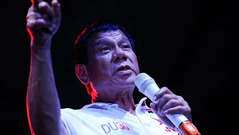 Philippine Presidential Candidates Campaign On Labour Day