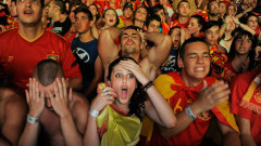 Spain Fans Watch The UEFA EURO 2012 Semi-Final Match Against Portugal