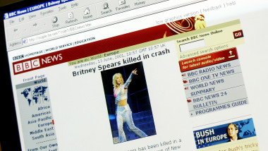 "Fake ""BBC News"" Website Claims Britney Spears Died"