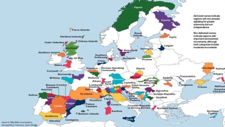 Cum Ar Arăta Harta Europei Dacă Toate Regiunile Care Luptă Pentru