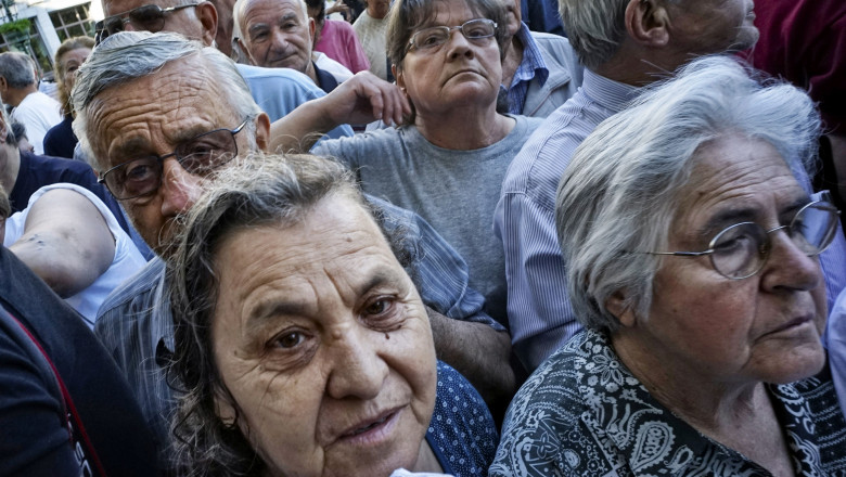 National Banks Open For One Day To Allow Greek Pensioners To Collect Rationed Payouts