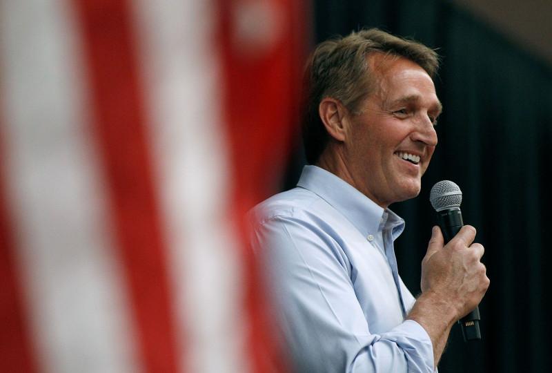 Sen. Jeff Flake (R-AZ) Holds Town Hall In Mesa, Arizona