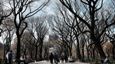 New Yorkers Enjoy Advent Of Spring In Central Park
