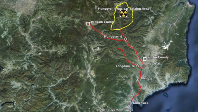 centru de teste nucleare coreea de nord