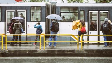 vreme ploaie umbrela bucuresti tramvai