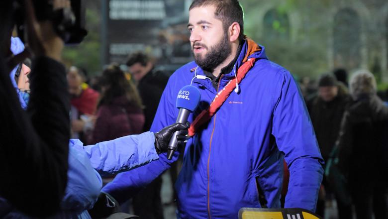 protest euronews - florin dragusin