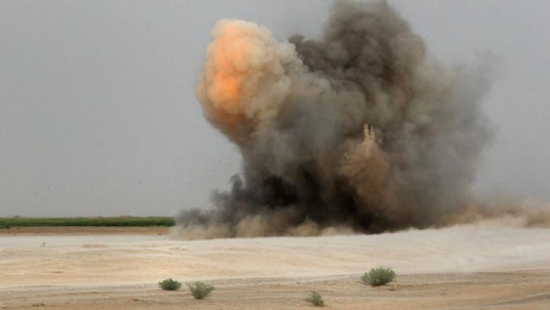 explozie mină/dispozitiv IED în Afganistan