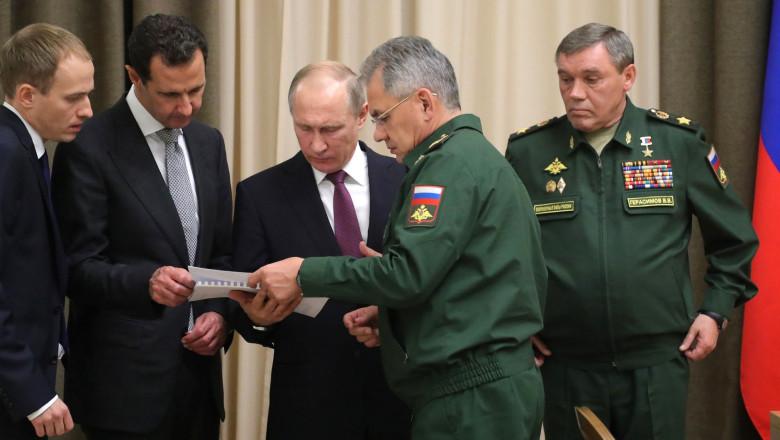 assad putin generali - kremlin