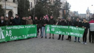 protest autostrada Iasi