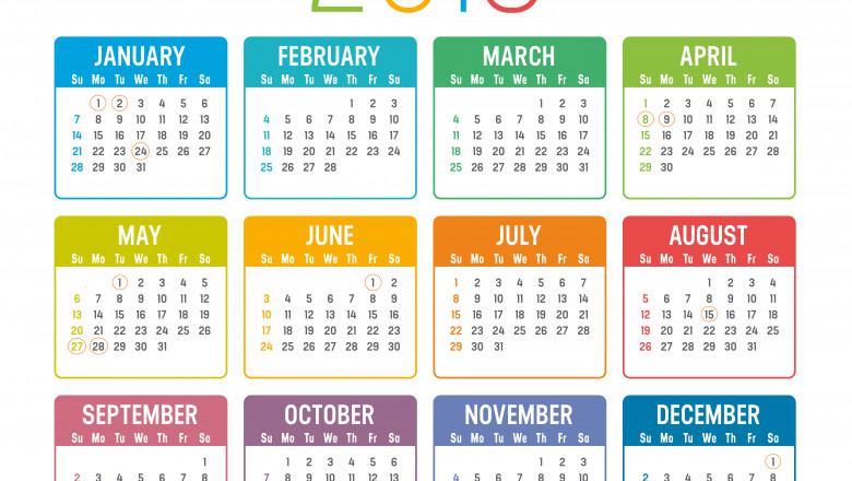 cate zile lucratoare sunt in 2019