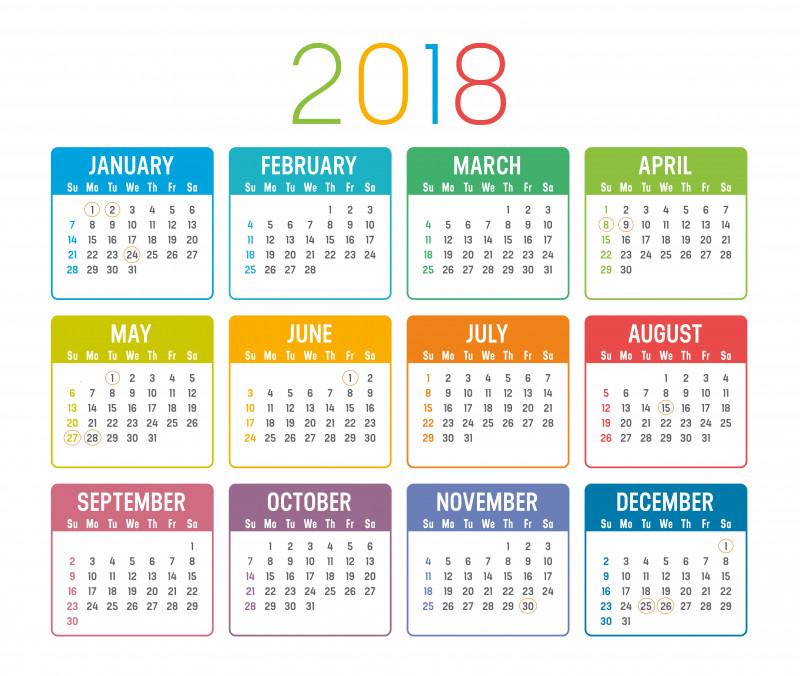 calendar zile libere 2018