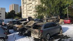 masini incendiate franta - presa locala