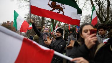proteste iran londra sah