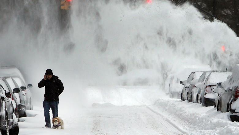 Winter Snow Storm Hammers Northeastern US