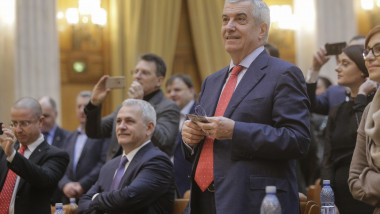 171222_ciuhodaru dragnea tariceanu BUGET_COLINDATORI_PARLAMENT_01_INQUAM_Photos_George_Calin