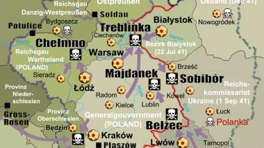 harta holocaust polonia