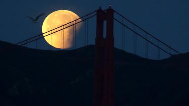 "Rare ""Super Blue Blood Moon"" Makes Appearance On U.S. West Coast"