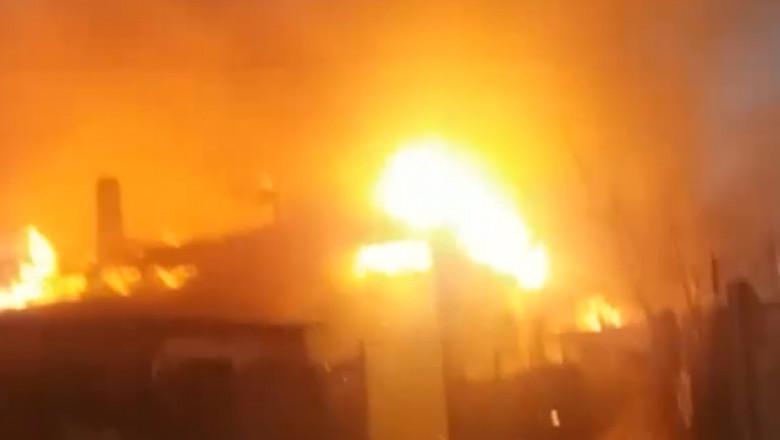 Video Incendiu Puternic In Medgidia Ard 10 Case