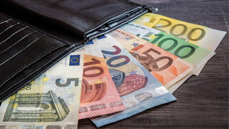 portofel cu euro - shutterstock