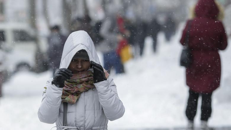 viscol, ger frig zapada bucuresti ninsoare
