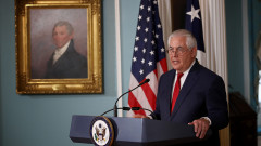 Secretary Of State Rex Tillerson Makes Statement At State Department
