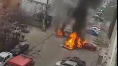 incendiu masina bacau 2