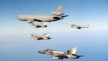 Three F/A 18 Hornets